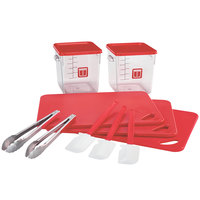 Rubbermaid 1985228 Color-Coded 12 Piece Red Kitchen Tool Set