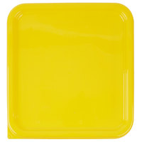 Rubbermaid 1980303 Color-Coded 2, 4, 6, and 8 Qt. Yellow Square Food Storage Container Lid