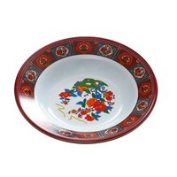 Thunder Group 1109TP Peacock 10 oz. Round Melamine Soup Plate - 12/Pack