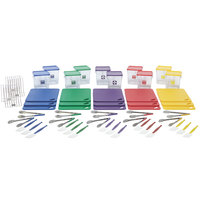 Rubbermaid 1985225 Color-Coded 62 Piece Multi-Colored Kitchen Tool Set