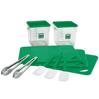 Rubbermaid 1985229 Color-Coded 12 Piece Green Kitchen Tool Set