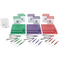Rubbermaid 1985224 Color-Coded 37 Piece Multi-Colored Kitchen Tool Set