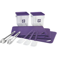 Rubbermaid 1981146 Color-Coded 12 Piece Purple Allergen Safe Kitchen Tool Set