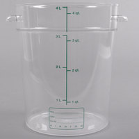 Carlisle 1076407 4 Qt. Clear Round StorPlus Container