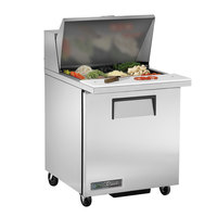True TSSU-27-12M-B-HC LH 27 inch 1 Left Hinged Door Mega Top Refrigerated Sandwich Prep Table