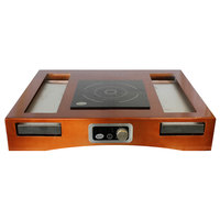 Tablecraft CWACTION1TCP 31 1/4 inch x 25 1/4 inch x 5 3/4 inch Copper Brushed Aluminum Single Countertop Induction Station Kit