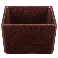 Tablecraft CW4000MRS Contemporary Collection Maroon Speckle 24 oz. Straight Sided Bowl
