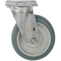 Metro C6PBGSA 6 inch Super Erecta Polyurethane Washable Swivel Plate Caster with Brake
