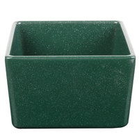 Tablecraft CW4000HGNS Contemporary Collection Hunter Green with White Speckle 24 oz. Straight Sided Bowl