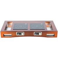 Tablecraft CWACTION2TCP 47 3/8 inch x 25 1/2 inch x 5 1/2 inch Copper Brushed Aluminum Double Countertop Induction Station Kit