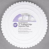 Wilton 302-15 Decorator Preferred Round Scalloped Edge Cake Separator Plate - 15 inch