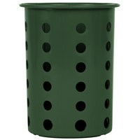 Steril-Sil RP-25-HUNTER Hunter Green Plastic Straight Sided Flexible Silverware Cylinder