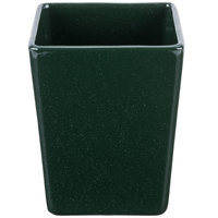 Tablecraft CW4012HGNS Contemporary Collection Hunter Green with White Speckle 1.5 Qt. Straight Sided Bowl