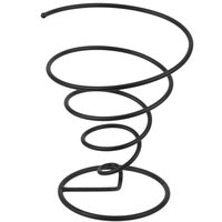 GET 4-32800 7 inch Black Iron Powder Coated Spiral Wire Cone Basket
