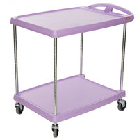 Metro myCart MY2030-24AP Purple Utility Cart with Two Shelves and Chrome Posts - 24 inch x 34 inch
