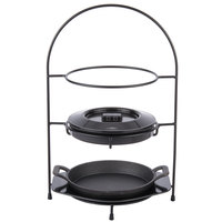 Tablecraft FTR1711KIT 4 Piece Black Steel Fajita Tower Set