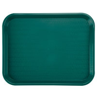 Carlisle CT141815 Customizable Cafe 14 inch x 18 inch Teal Standard Plastic Fast Food Tray - - 12/Case