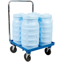 Vollrath Traex Safety Mate 5.75 Gallon Blue Ice Porter Kit with Dolly