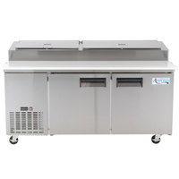 Avantco APPT-71 72 inch 2 Door Refrigerated Pizza Prep Table