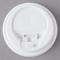 Choice 10, 12, 16, and 20 oz. White Hot Paper Cup Travel Lid with Hinged Tab - 100/Pack