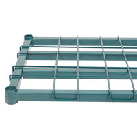 Regency 18 inch x 24 inch Green Epoxy Heavy-Duty Dunnage Shelf with Wire Mat - 800 lb. Capacity