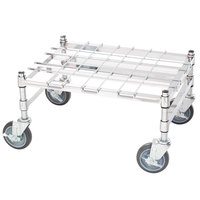 Regency 18 inch x 24 inch Heavy-Duty Mobile Chrome Dunnage Rack with Mat