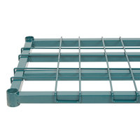 Regency 18 inch x 36 inch Green Epoxy Heavy-Duty Dunnage Shelf with Wire Mat - 800 lb. Capacity