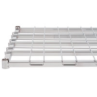 Regency 24 inch x 48 inch Chrome Heavy-Duty Dunnage Shelf with Wire Mat - 800 lb. Capacity