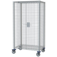 Metro MQSEC56VE 28 inch x 65 inch x 68 inch MetroMax Q Stem Caster Mobile Security Unit