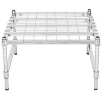 Regency 24 inch x 24 inch Heavy-Duty Chrome Dunnage Rack with Mat