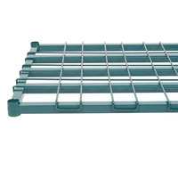 Regency 24 inch x 36 inch Green Epoxy Heavy-Duty Dunnage Shelf with Wire Mat - 800 lb. Capacity