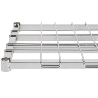 Regency 18 inch x 48 inch Chrome Heavy-Duty Dunnage Shelf with Wire Mat - 800 lb. Capacity