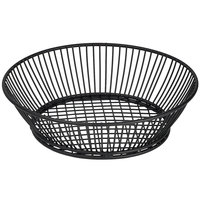 Clipper Mill by GET 4-31872 9 1/2 inch Round Black Iron Powder Coated Basket