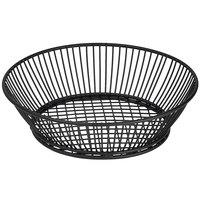 GET 4-31872 9 1/2 inch Round Black Iron Powder Coated Basket