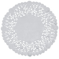 8 inch Silver Foil Lace Doily - 500/Case