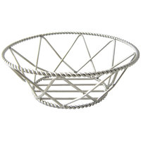 Clipper Mill by GET 4-81433 8 inch Round Stainless Steel Braided Basket