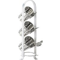 Cal-Mil 1583-74 Soho Three Tier Silver Cylinder Display - 8 3/4 inch x 8 1/2 inch x 21 inch