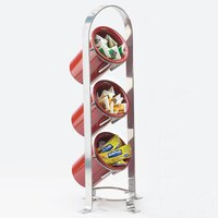 Cal Mil 1583-74 Silver Soho 3-Tier Cylinder Display – 8 3/4 inch x 8 1/2 inch x 21 inch