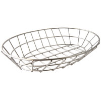 Clipper Mill by GET 4-84418 12 inch x 8 1/2 inch Stainless Steel Oval Grid Basket