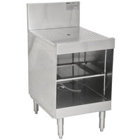 Eagle Group WBGR18-24 Spec-Bar 18 inch Glass Rack Storage Unit with Recessed Worktop