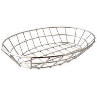 GET 4-20144 9 3/4 inch x 6 1/4 inch Chrome Oval Grid Basket