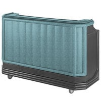 Cambro BAR730PM421 Granite Green and Black Cambar 73 inch Post-Mix Portable Bar with 7 Bottle Speed Rail, Cold Plate, and Soda Gun
