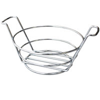 Clipper Mill by GET 4-22784 7 inch Round Stainless Steel Basket with Handles