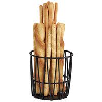 GET 4-32038 4 1/4 inch Round Black Iron Powder Coated Basket