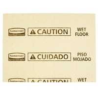 Rubbermaid FG425300YEL Over-The-Spill 16 inch x 12 5/8 inch Yellow Medium Absorbent Pad - 25/Pack