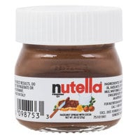 Nutella Hazelnut Spread .88 oz Mini Glass Jar - 64/Case