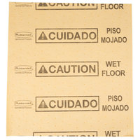 Rubbermaid FG425200YEL Over-The-Spill 18 inch x 16 inch Yellow Large Absorbent Pad - 25/Pack