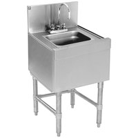 Eagle Group WS18-19 Spec-Bar 1 Bowl Underbar Wet Waste Sink with Deck Mount Gooseneck Faucet - 18 inch x 19 inch
