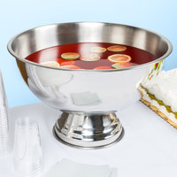 12 Qt. Stainless Steel Punch Bowl with Mirror Finish