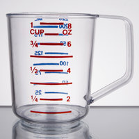 Rubbermaid FG321000CLR Bouncer 1 Cup Polycarbonate Plastic Measuring Cup
